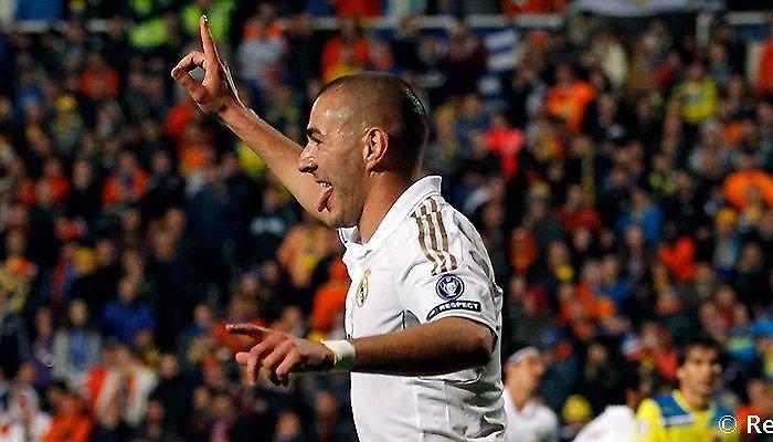 Benzema marcó un doblete en la única visita oficial a Nicosia
