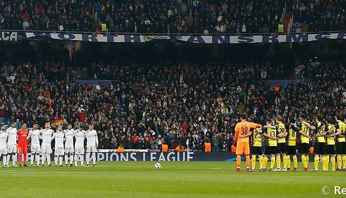 Real Madrid - Borussia Dortmund Minuto de silencio por el fallecimiento de Jensen