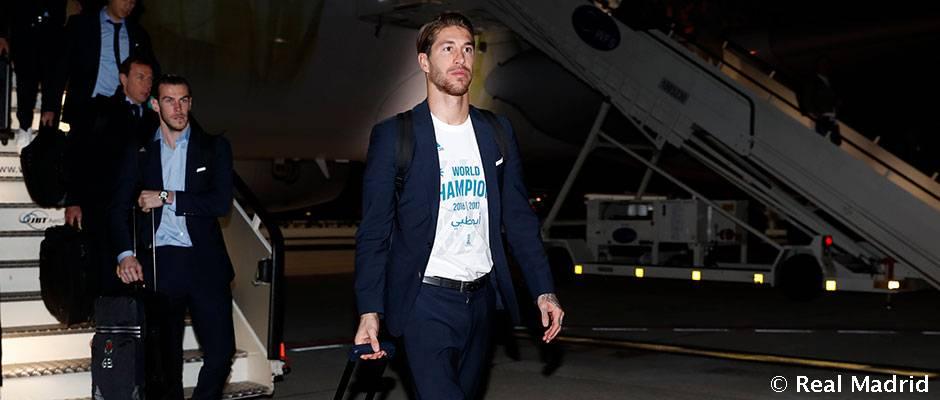 Los campeones del mundo llegaron a Madrid Los campeones del mundo llegaron a Madrid