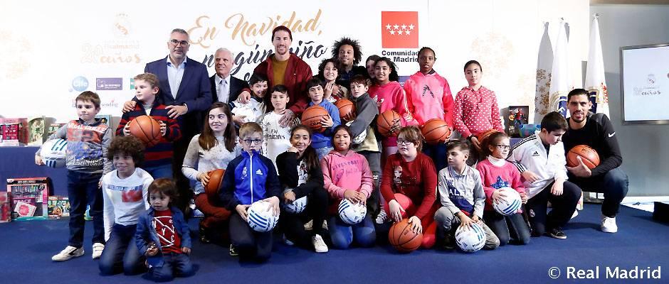 La Fundación Real Madrid presentó la campaña 'En Navidad, ningún niño sin regalo'