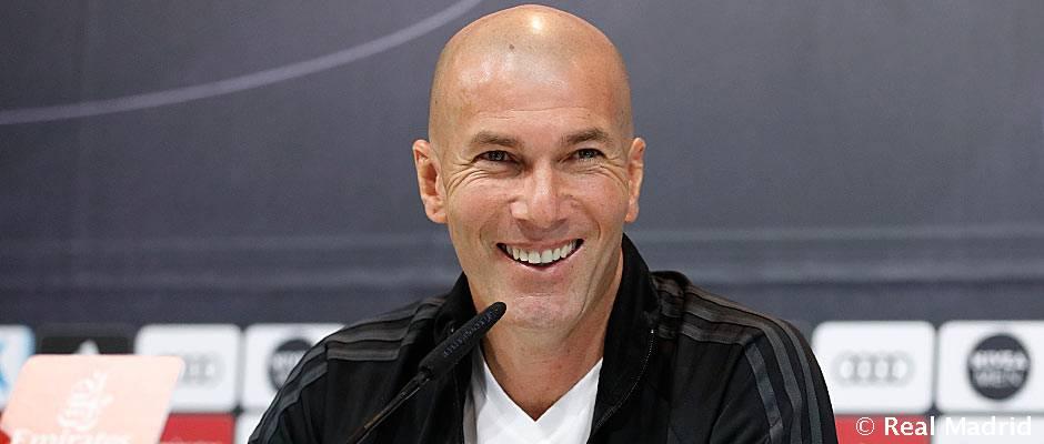 """Zidane: """"Hay que salir a tope y con la máxima intensidad"""""""