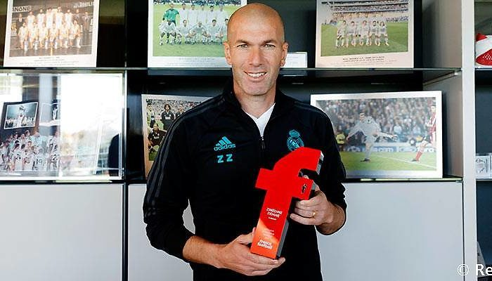 Zidane, mejor entrenador francés de 2017 para 'France Football'