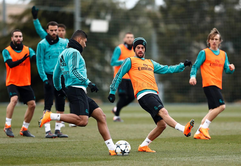 El Real Madrid continúa preparando el partido ante el PSG