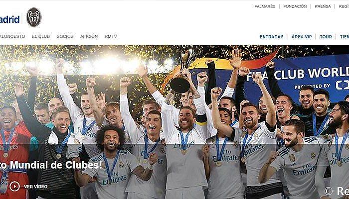 Realmadrid.com sigue siendo la web de clubes de fútbol más visitada del mundo