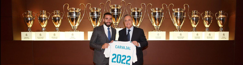 Carvajal firmó su ampliación de contrato con el Real Madrid