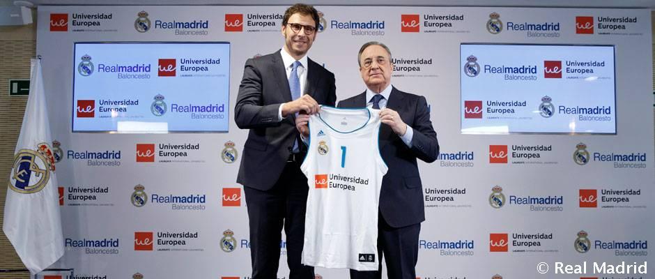 La Universidad Europea patrocinará al Real Madrid de baloncesto