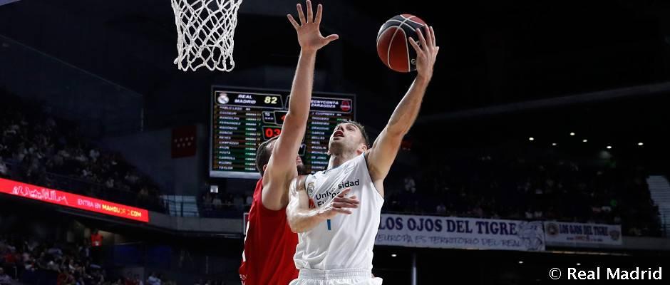 El Madrid domina de principio a fin al Tecnyconta Zaragoza