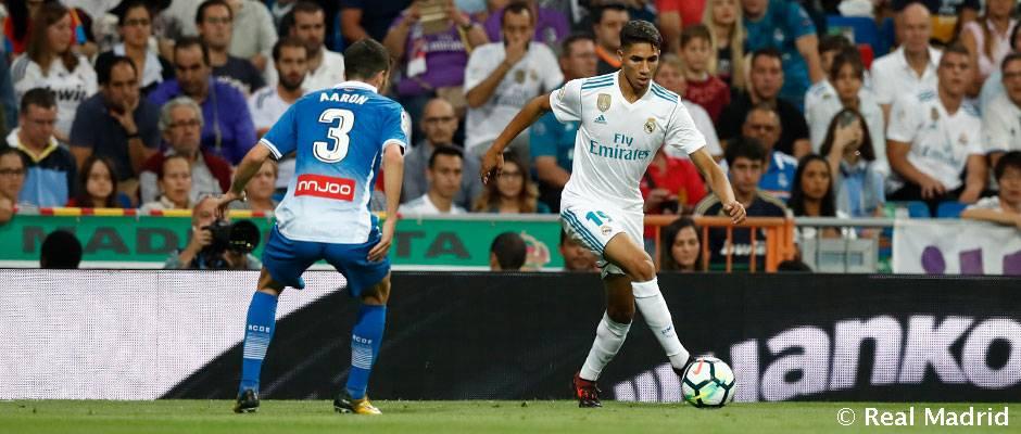 Achraf debutó en partido oficial con el Real Madrid