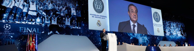 """Florentino Pérez: """"Hemos vivido la mejor temporada en títulos de nuestros 115 años"""""""