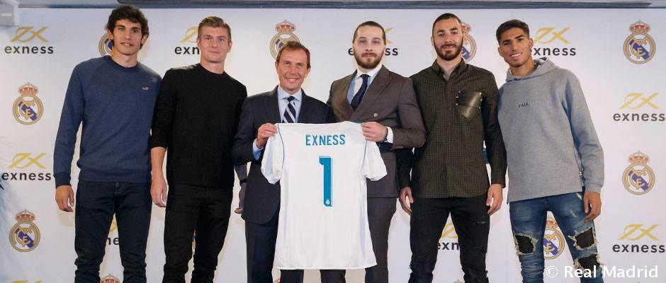 El Real Madrid y Exness presentan su acuerdo de colaboración