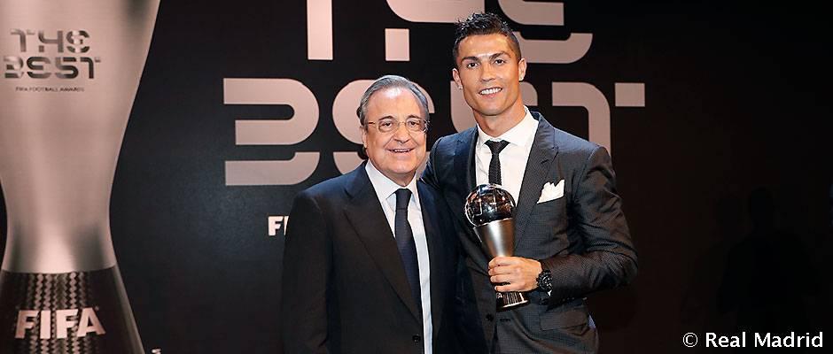 """Florentino Pérez: """"Cristiano es un jugador increíble, es imposible hacerlo mejor"""""""