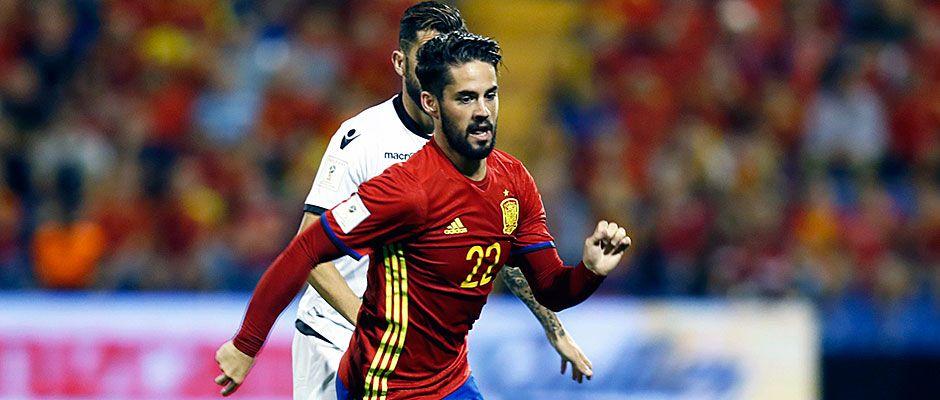 España-Albania 3-0: Isco marcó y asistió en la victoria de España ante Albania