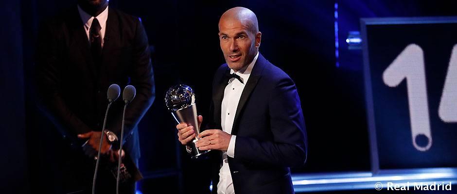 Zidane, Premio The Best al Entrenador de la FIFA 2017