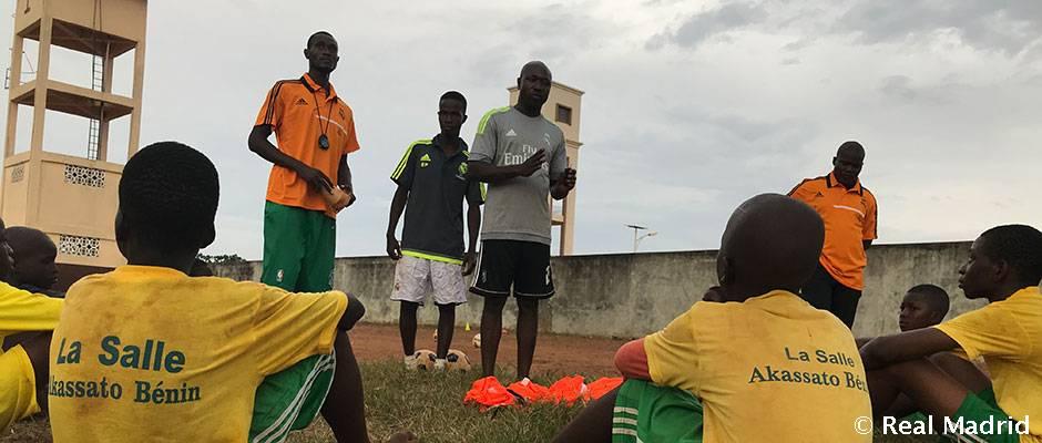 La Fundación Real Madrid inaugura tres escuelas sociodeportivas en Benín