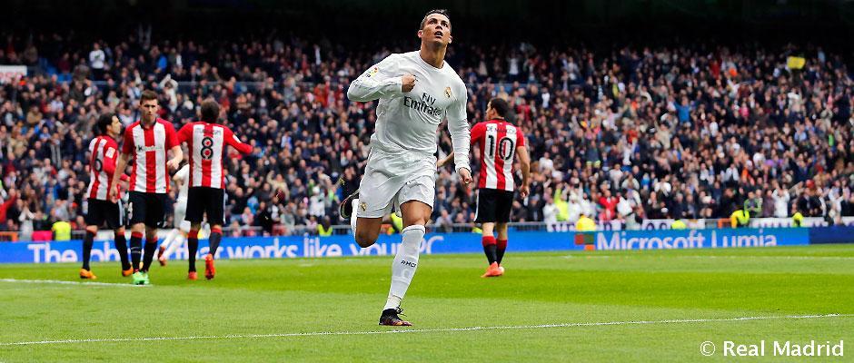 Cristiano Ronaldo promedia un gol por partido ante el Athletic Club