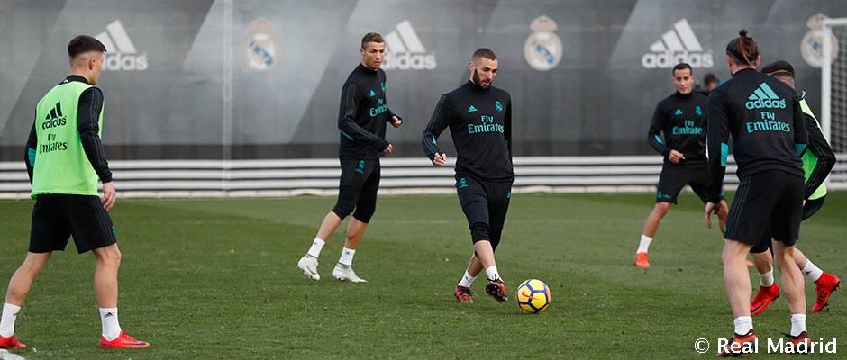 Primer entrenamiento de la semana en la Ciudad Real Madrid