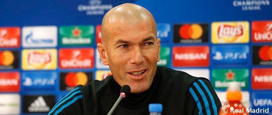 """Zinedine  Zidane: """"Tendremos que estar concentrados porque no será un partido fácil"""""""