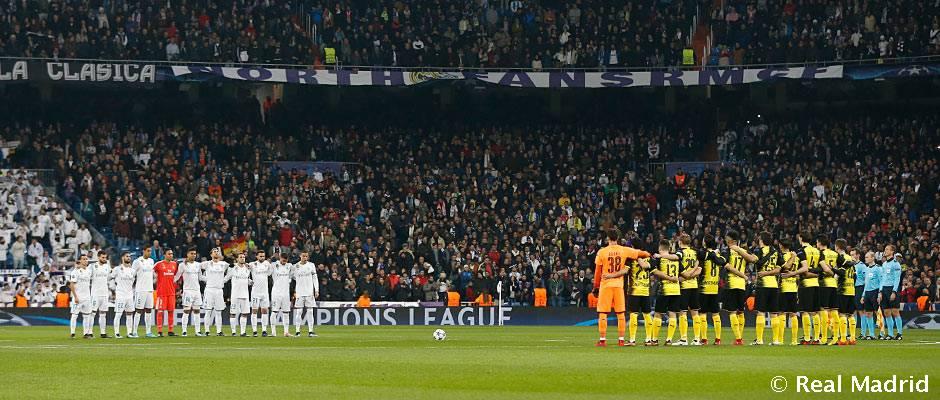 Real Madrid – Borussia Dortmund Minuto de silencio por el fallecimiento de Jensen