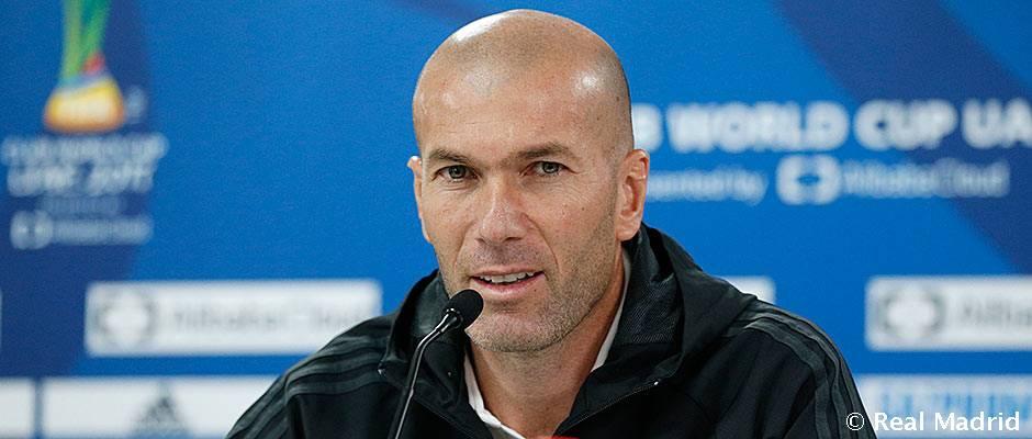 """Zidane: """"Hemos llegado a la final y la máxima ilusión es volver con el trofeo"""""""