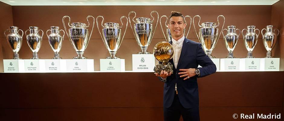 Cristiano Ronaldo, Balón de Oro 2016 Mañana se entrega el Balón de Oro 2017