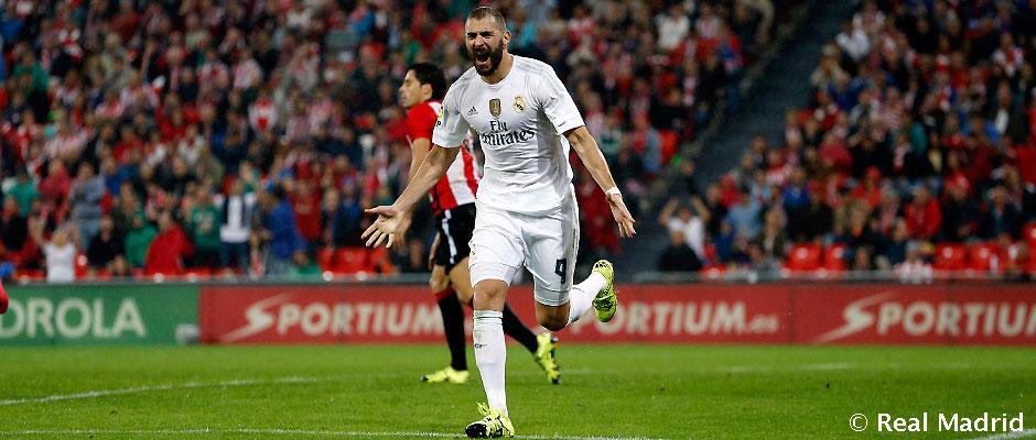 Benzema, sinónimo de gol en San Mamés