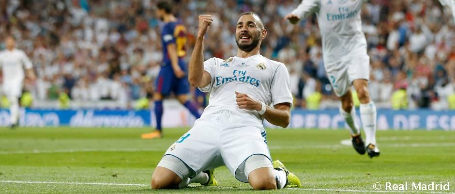 Benzema, especialista ante el Barcelona en el Bernabéu