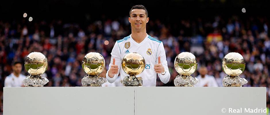 Cristiano Ronaldo ofreció su quinto Balón de Oro al Bernabéu