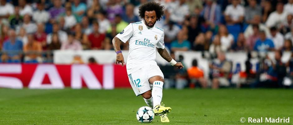 Marcelo, máximo asistente del Real Madrid en 2017