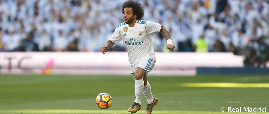 """Marcelo: """"La Liga está difícil pero el Real Madrid no se rinde nunca"""""""
