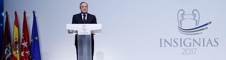 """Florentino Pérez: """"Somos un modelo de éxito gracias a la unidad y a la fuerza de todo el madridismo"""""""