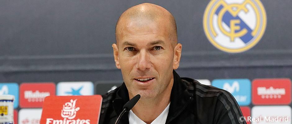 """Zidane: """"Sólo pensamos en hacer un buen partido"""""""