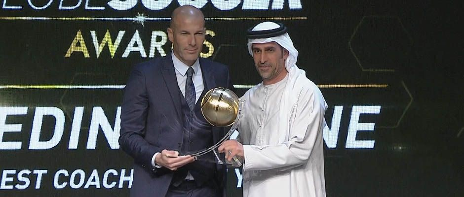 Zidane recibió el premio al Mejor Entrenador del Año