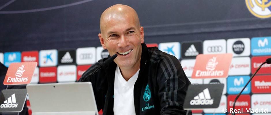 """Zidane: """"Diciembre es un mes importante y lo afrontamos con ilusión"""""""