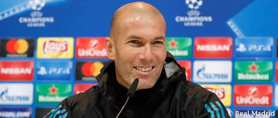 """Zidane Zidane: """"Estamos clasificados para octavos pero pensamos hacer un buen partido"""""""