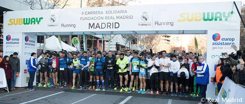 Éxito de participación en la II Carrera Solidaria de la Fundación Real Madrid