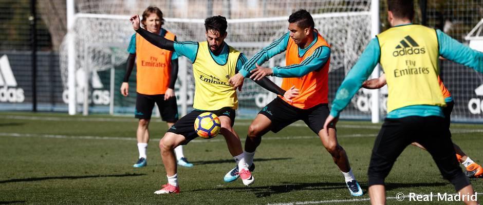 Isco completó el entrenamiento con el grupo.