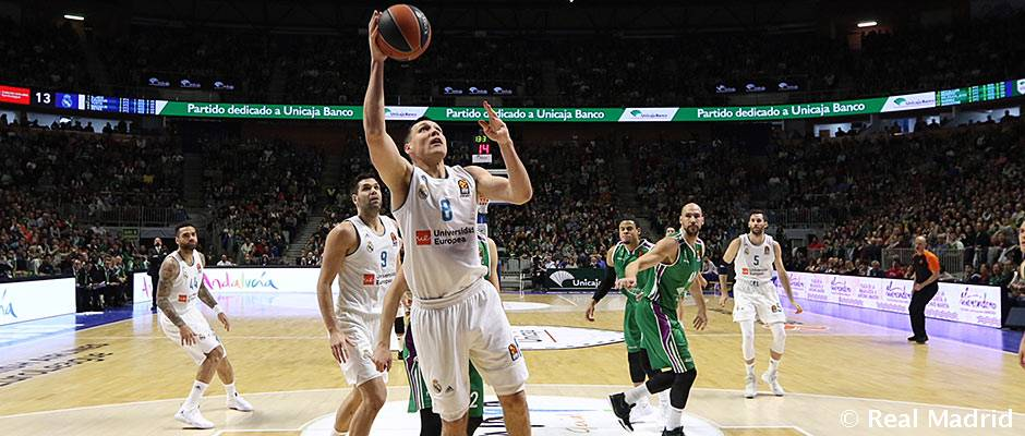 Unicaja – Real Madrid 80-75: Unicaja frena la racha del Real Madrid