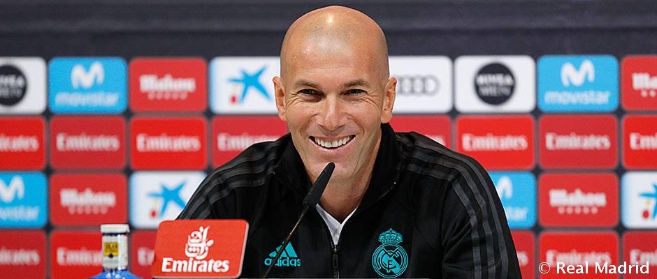 """Zidane: """"Vamos a pelear hasta el final y hay que jugar con intensidad"""""""