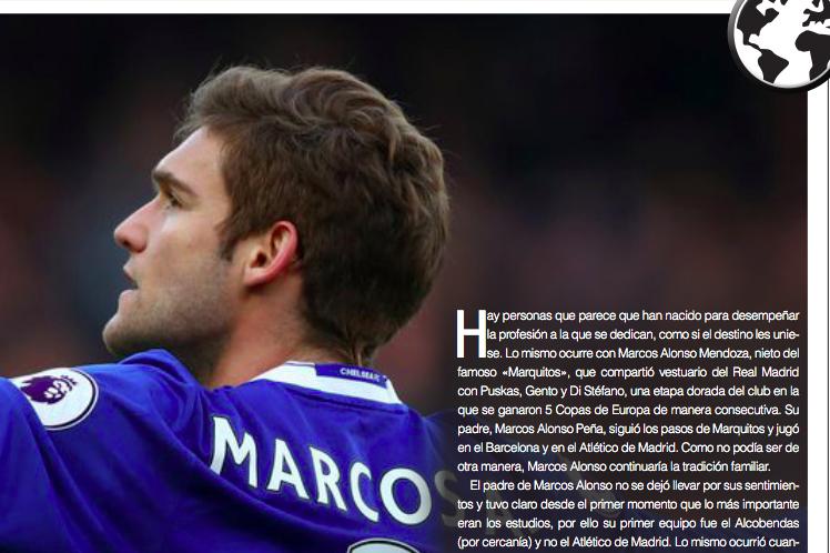 Marcos Alonso, fútbol en los genes