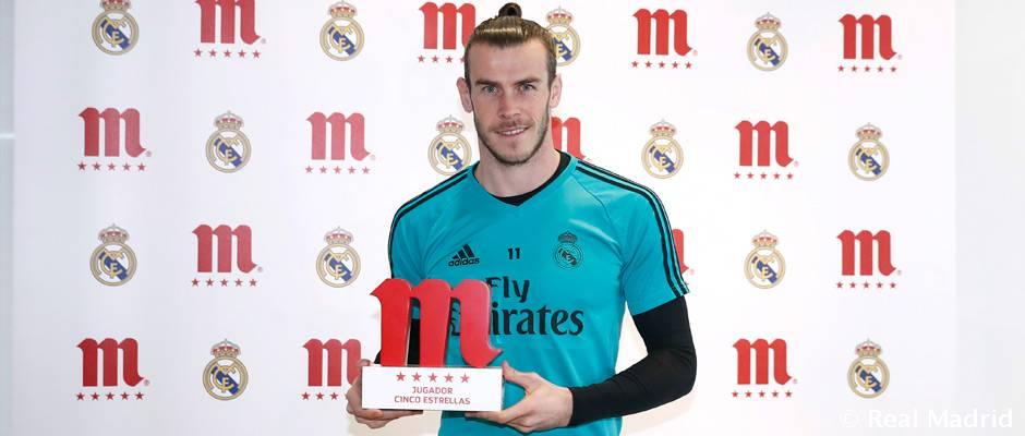 Bale, jugador Cinco Estrellas Mahou de enero