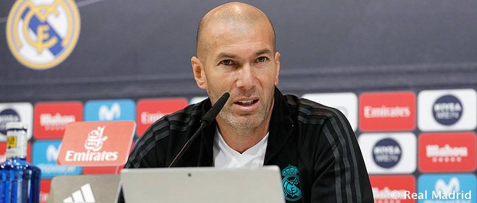 """Zidane: """"Solo estamos concentrados en el partido contra la Real Sociedad"""""""