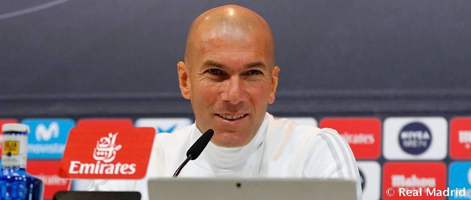 "Zidane: ""Queremos dar continuidad a esta buena racha"""