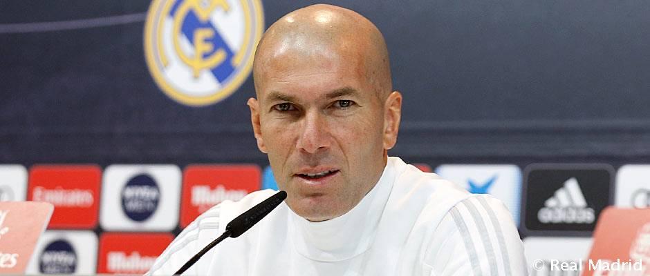 """Zidane: """"La clave para ganar al Levante es estar concentrados los 90 minutos"""""""