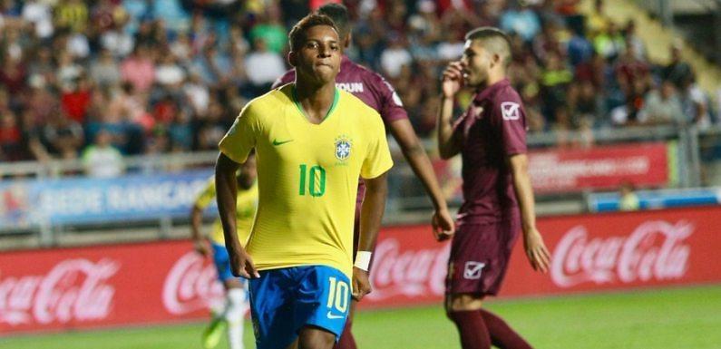 Rodrygo, entre los goleadores del Sudamericano Sub20