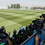 Medios de comunicación cubriendo al Real Madrid. La mayoría, con sede desde Barcelona.