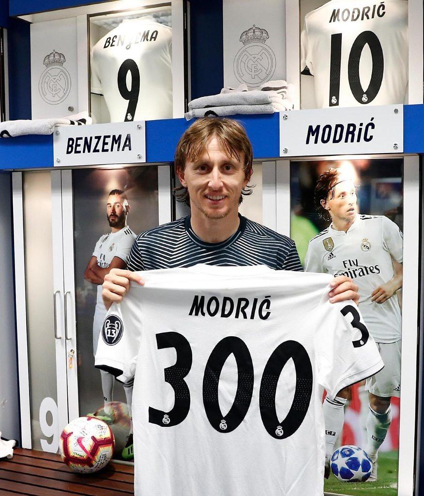 Luka Modric cumple 300 partidos con el Real Madrid