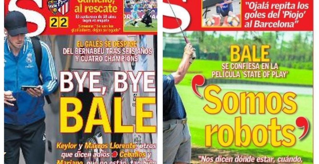 Bale, el golf portada AS criticas prensa Real Madrid