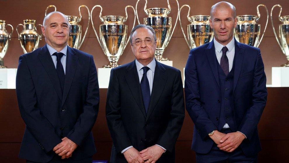 Florentino Pérez Pablo Laso Zinedine Zidane