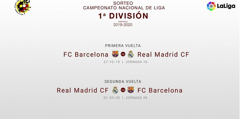 Calendario Barcellona 2020.Asi Es El Calendario Del Real Madrid Para La Temporada 2019