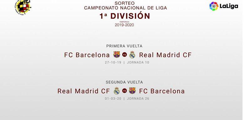 Así es el calendario del Real Madrid para la temporada 2019-2020